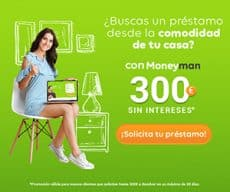 Moneyman España primer préstamo gratis button