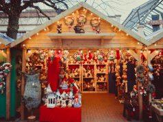 Puesto en el mercado de Navidad