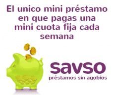 Savso España - préstamo con pago semanal - banner