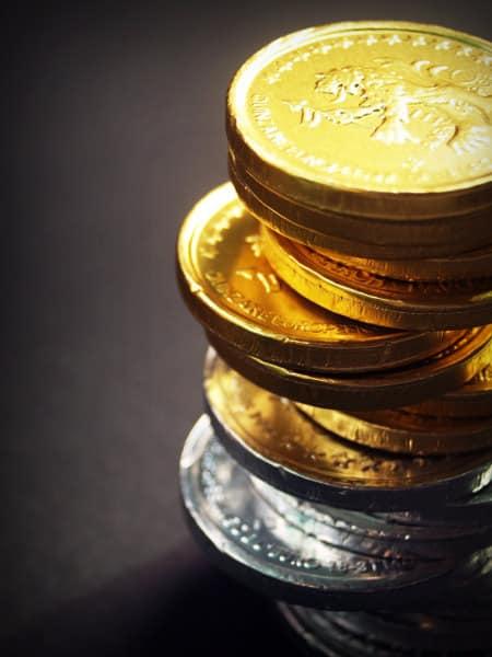 Lingotes de oro y plata