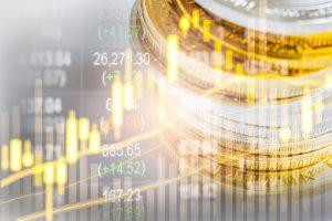 Gráfico de inversiones en oro y plata - ganancias - monedas de lingotes